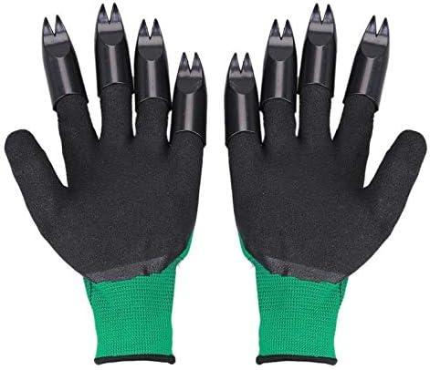 Guantes de jardineria Guantes 1 Par de jardín con guantes de plástico ABS Garra dedo rápida