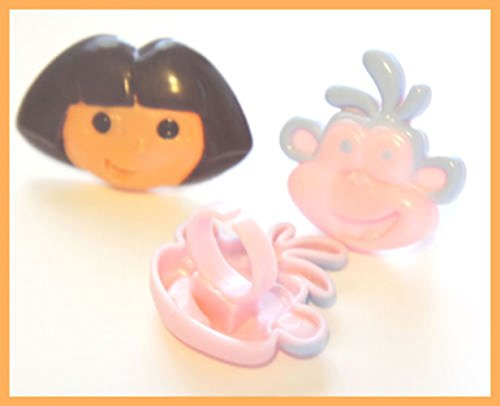 Set of 12 Dora the Explorer Rings for Cupcakes or Cakes -  DecoPac