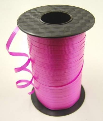 Forum Novelties Curling Ribbon-Hot Pink Balloon Ribbon-500 Yards ()