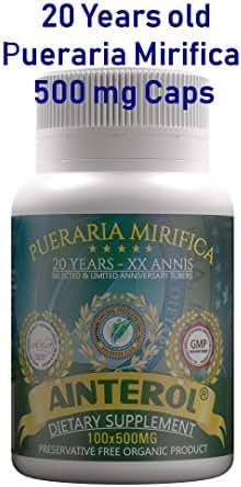 Ainterol Pueraria Mirifica 20 Years XX Annis Breast Enlargement 500mg 100 Caps Organic Root Powder