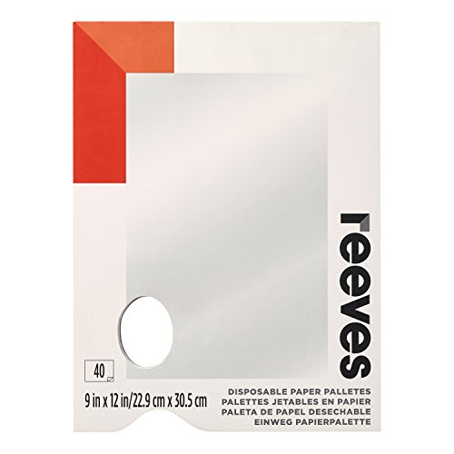 Reeves Disposable Paper Paint Palette, 9