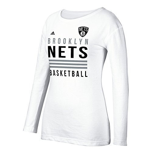 NBA Brooklyn Nets Women's 3 Stripe Stack Long - Nets Tshirt