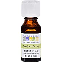 Aura Cacia Essential Oil, Juniper Berry, 0.5 oz