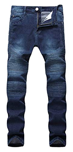 Lannister Fashion Pantalones Vaqueros De Los Hombres Pantalones Elásticos Ajustados Skinny Vaqueros Ajustados Delgados Pantalones De Los Hombres Pantalones Vaqueros Destruidos Delgados Dunkelblau2