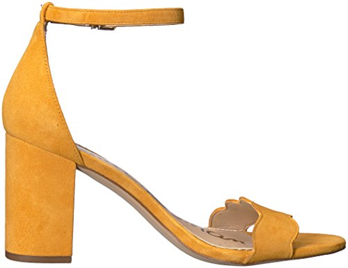 Sam Women's Heeled Yellow Sandal Odila Black Sunglow Edelman fqrwvf