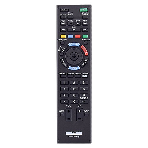 Noa Store RM-YD103 RM-YD102 Universal TV Remote Control Replacement for Bravia Sony TV Remote HDTV LCD LED 3D Smart Television