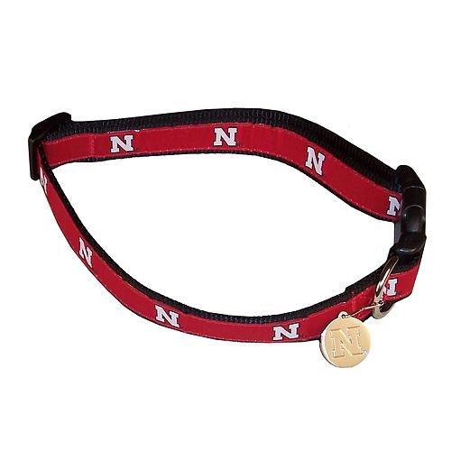 Beige Large beige Large Sporty K9 Collegiate Nebraska Cornhuskers Dog Collar, Large