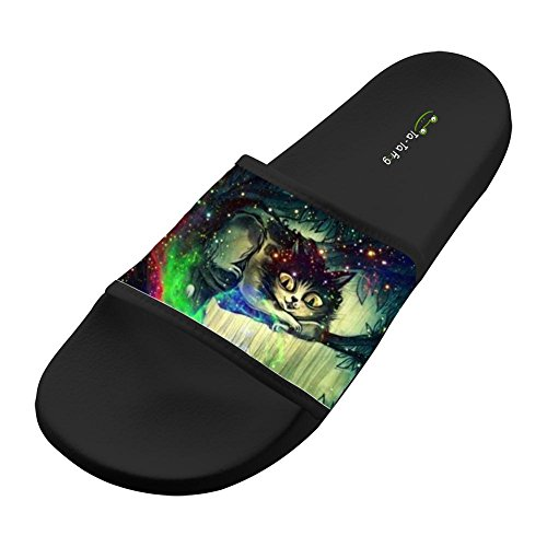 Price comparison product image Jane-LEE Shoe Comfortable Slipper Cat Trippy Glitter Drugs Weed decorations Designs For Men & Women 7 D(M) US
