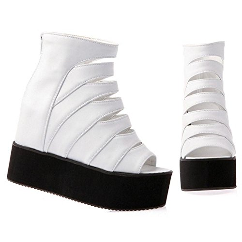 High Sandals White Women's Shoes Heel TAOFFEN 26 Flatform C5qaZwx5tB