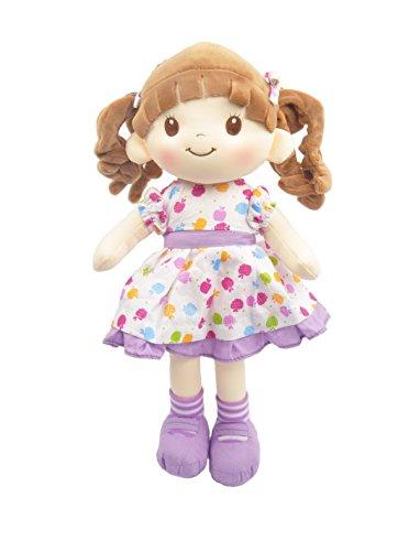 """Linzy Plush 16"""" Purple Avery Doll Soft Rag Doll"""