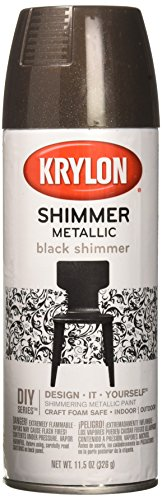 Krylon KRY3926 Shimmer Metallic Spray Paint 11.5oz Black (Spray Crafters Metallic)