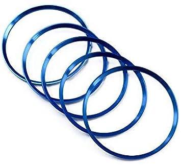 Blau A B Klasse W176 W246 2013-2017 Interieur Vordere A//C Gitter Interieurleisten Metall 5 St/ück Klimaanlage Luftaustritt Dekoration f/ür GLA CLA 2014-2018