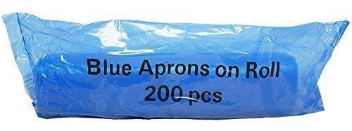 REAL ACCESSORIES Delantales Desechables de Color Azul 27 x 42 69 x 107 cm Alta Densidad Rollo de 200 Delantales de Polietileno no Est/éril