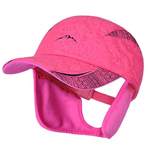 E.Joy Online Adjustable Warm Fleece Earflap Winter Baseball Cap Men Women Waterproof Outdoor Hunting Cap Hot Pink ()