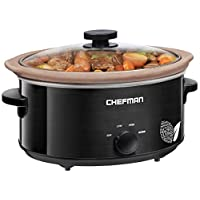Deals on Chefman RJ15-5-N Natural Slow Cooker, 5 quart
