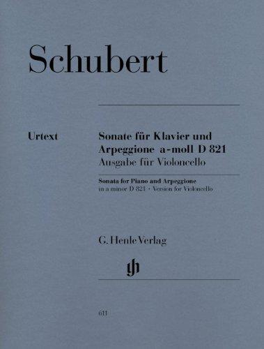 - Sonata for Piano and Arpeggione a minor (Version for Violoncello)  D 821 (op. post.) - cello and piano - (HN 611)