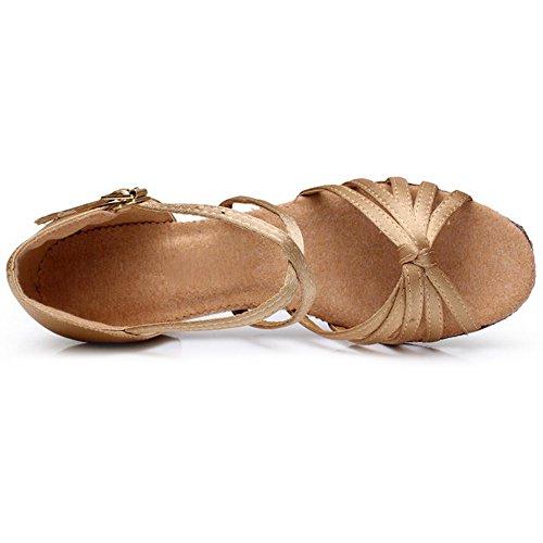 Eastlion Sandales Pour Filles Pratiquent Les Chaussures De De Tango Salsa Danse Latine Les Femmes Beige Danse Chaussures De De De Salon De Et 16q6RwrZx0