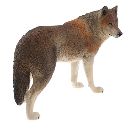 Homyl Realistic PVC Wildlife/Zoo Animal Model Figurine Action Figures Playset Kids Educational Toy Collectibles -Brown Wolf