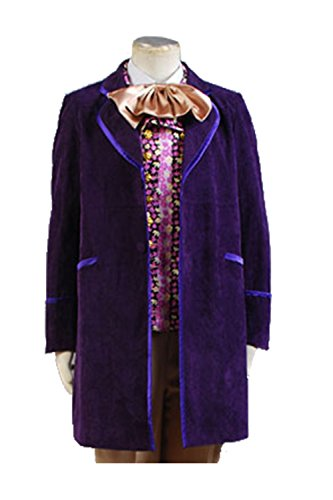 Oompa Loompa Halloween Costume Toddler (NoveltyBoy Johnny Depp Willy Wonka Charlie and the Chocolate Factory Coat Jacket Overcoat Topcoat Costume Purple)