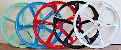 "700C/29"" BMX 5 Spoke Magnesium Rims Fixed Gear Single Speed Complete Bicycle Sealed Wheelset"
