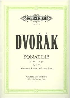 Book DVORAK - Sonatina Op.100 en Sol Mayor para Violin y Piano (Urtext) (Thiemann/Gurgel)