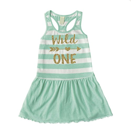 Girl First Birthday Outfit, Wild One Summer Tank Dress (12 Months) by Bump and Beyond Designs