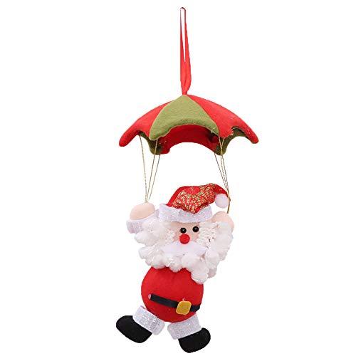 Gotian Santa Claus Snowman in Parachute Christmas Tree Hanging Ornament Xmas Home Decor (A) from Gotian