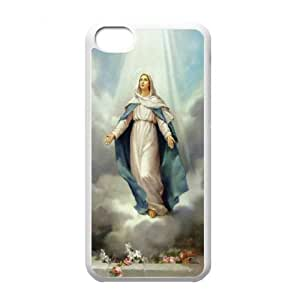 2015 Customizedhard iPhone 5c hard back case with Virgin Mary theme designed by padcaseskingdom