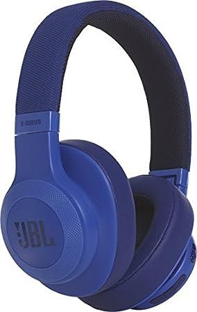 JBL E55BT - Auriculares bluetooth supraaurales plegables con cable y control remoto universal, batería de