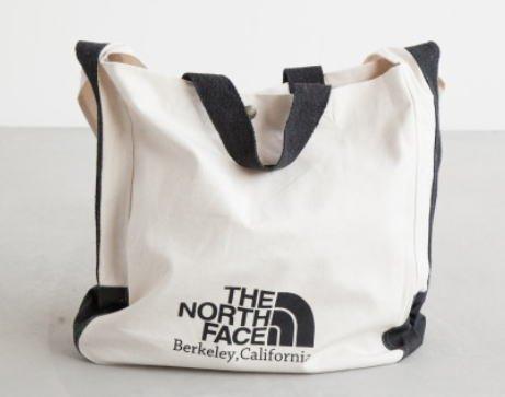 [NM81215] THE NORTH FACE(ノースフェイス) FLEA MARKET ORGANIC COTTON TOTE フリーマーケットオーガニックコットンキャンバストート/ショルダーバッグ size:one size(16L) color:NK.ナチュラル×ブラック