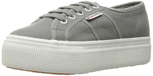 Superga Women's 2790 Platform Sneaker, Grey Sage, 39 EU/8 M US