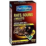 Fertiligène Raticide Souricide Anti Mulots, Céréales en Sachets Prêtes à l'Emploi AG-RSCER16