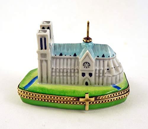 French Limoges Box - Authentic French Porcelain Hand Painted Limoges Box Gorgeous Notre-Dame De Paris Cathedral