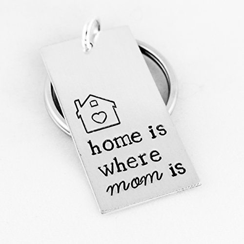 Home Is Where Mom Is - Mother's Day - Gift for Mom - Aluminum Key Chain