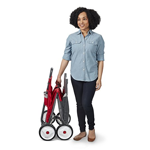 Radio Flyer Kid & Cargo with Canopy, Folding Wagon with 2 Versatile Seats, Red by Radio Flyer (Image #10)