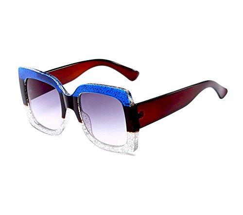 protegen gradiente clásicas fresca la del de que Blanco Gafas el cuadradas Azul de las de sol UV400 lente vendimia gafas Transparente viaje qAXAwzZCtx