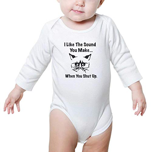 SHUOCDAH Grumpy Cat Shut Up Baby Boys Girls Cool Baby Outfits ()