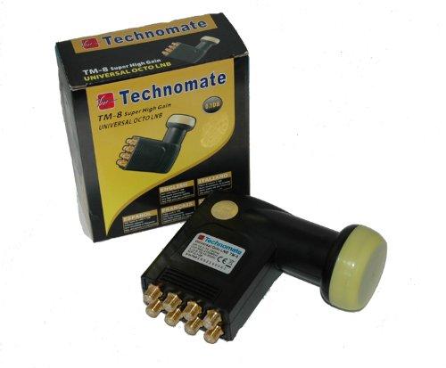 importado Technomate TM-8 0.1DB negro y amarillo LNB para equipos por sat/élite