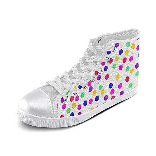 Artsdd Custom Mardi Gras High Top Canvas Shoes for (Mardi Gras Shoes)
