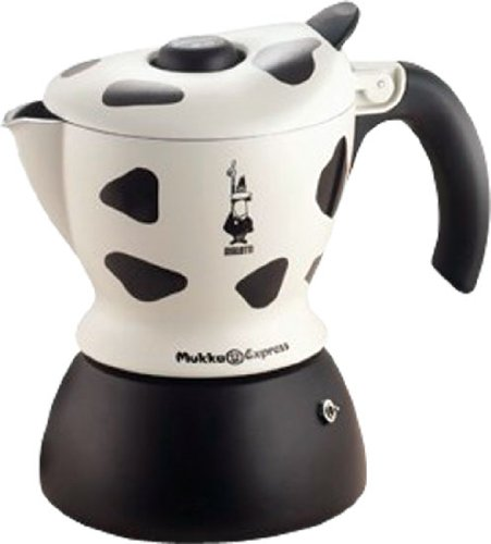 Bialetti Mukka Express 1-Cup Cow-Print Stovetop Cappuccino Maker by BIALETTI (Biaretti)