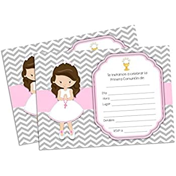 Amazoncom First Holy Communion Invitations For Girl