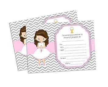 f6731ddc2e01c Amazon.com  First Holy Communion Invitations for Girl. Invitaciones ...