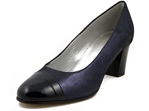 OSVALDO PERICOLI Women's Court Shoes Blue Size: 5