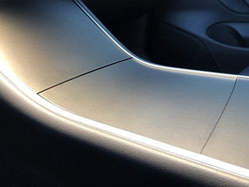 Kenriko Tesla Model 3 Black Brushed Metal Door Trim Wrap Kit