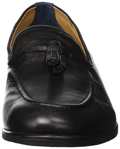 H.D. Hudson Mfg Co. Black, Mocassins Homme Noir (Dickson)