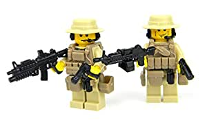 US Army Special Forces Commandos (SKU60)- Battle Brick Custom Minifigure