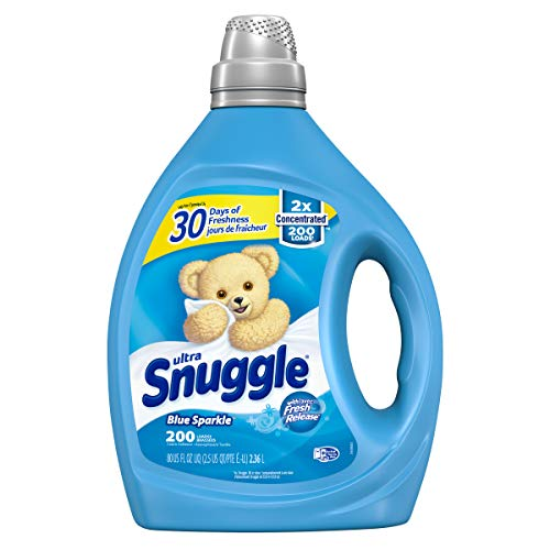 Snuggle Liquid Fabric Softener, 2X Concentrated, Blue Sparkle, 200 Loads, 80 fl. oz.