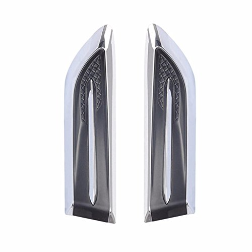 IYSHOUGONG 1 Pair Car Decorated Vent 3D Car Air Flow Fender Sticker Decal Engine Cover Stickers Exterior Decoration Accessories