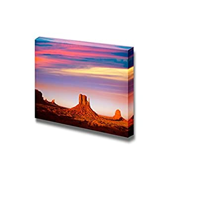 Beautiful Scenery Landscape Monument Valley West Mitten and Merrick Butte Sunset Utah - Canvas Art Wall Art - 16