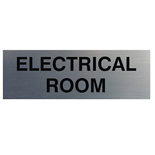 Electrical Room Door/Wall Sign - Silver - ()